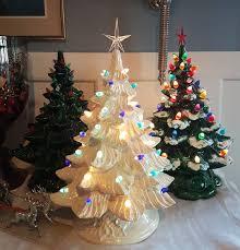Vintage White Christmas Tree Lights Got My Trees Up Vintage Christmas Ceramic Tree
