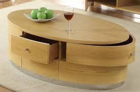 oval coffee tables with storage
