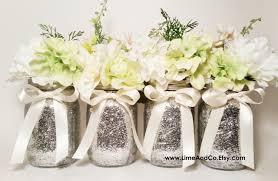 Mason Jar Decorations Mason Jar Centerpiece Bridal Shower Decor Wedding