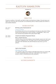 Birthday Party Host Resume Sample summary highlights experience