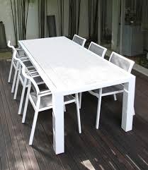 Garden Table Set VIRGINIA Grey  8 Person Aluminium Extending Aluminium Outdoor Furniture