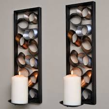 charming sconces wall large candle lamps and wooden and metal ornament