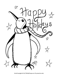 Small Picture Printable Holiday Coloring Pages The Inky Octopus