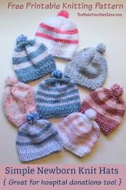 Knit Baby Hat Pattern Circular Needles Interesting Knitting Newborn Hats For Hospitals The Make Your Own Zone