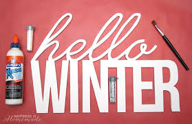 hello winter glittery wall decor happiness is homemade for large foam core letters