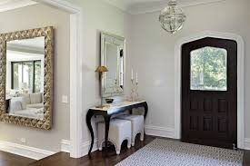 front door tablenarrow console table in Entry Transitional with Wood Front Door