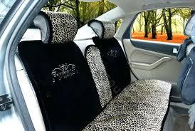 automobile seat cushion car seat cushion warm plush leopard grain auto seat covers black