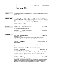 Objective In Resume For Computer Science Resume For Study