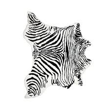 faux cowhide rug throw 4 1 4 x5 zebra black white