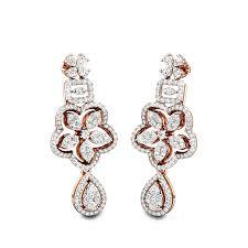 Diamond Earrings Traditional Designs Buy Diamond Stud Earrings Online Earrings For Women Kalyan