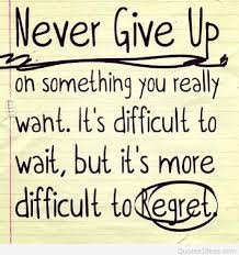 Quotes never give up