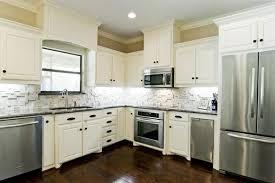 Image Of: Charming White Cabinets With White Backsplashes
