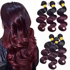 Amazon.com : <b>Ombre Bundles T1B</b>/<b>99J Ombre</b> Human Hair 3 ...