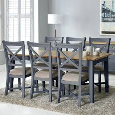 extending table and 6 chairs painted taupe large extending dining table 6 chairs seats 6 8 dining tables dining room furniture furniture home round