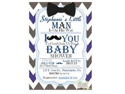Mustache And Bow Tie Baby Shower Invitations  PlumegiantComBow Tie And Mustache Baby Shower