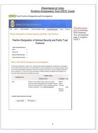 Position Designation Tool Subject Filling Civilian Positions Implementation Of The