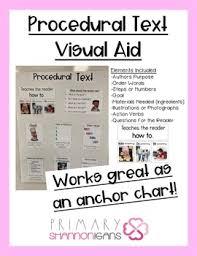 Procedural Text Elements Visual Aid Anchor Chart