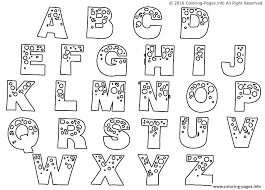 Free Animal Alphabet Coloring Pages Printable Letters Words And Page