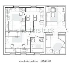 apartment design online. House Layout Design Black And White Architectural Plan Of A In Top View The Apartment Your Own Online Free