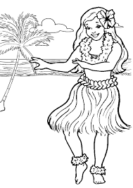 Small Picture Free Online Printable Kids Colouring Pages Hula Girl Colouring