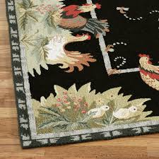 Round Rooster Kitchen Rugs Rooster And Hens Round Rugs