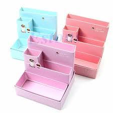 thinkthendo diy foldable paper cardboard storage box makeup cosmetic organizer stationery