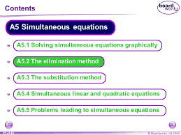 a5 simultaneous equations ppt solving systems of equations
