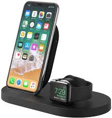 It has a charging stand for an apple watch, and two wireless qi charging pads, which can be used with a smartphone (iphone or android), and totally wireless earbuds (airpods or otherwise). Amazon Com Belkin Boost Up Wireless Charging Dock Apple Charging Station For Iphone Apple Watch Usb Port Apple Watch Charging Stand Iphone Charging Station Iphone Charging Dock Black