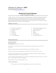 Leasing Manager Resume Adorable Residential Manager Resume