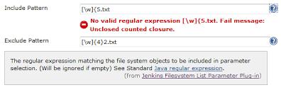Filesystem List Parameter Plug-in - Jenkins - Jenkins Wiki