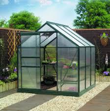 gardman 6 x 6 aluminium greenhouse with frame base polycarbonate pack