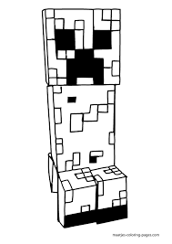 minecraft creeper coloring pages printable
