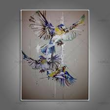 beautiful birds paintings on canvas pure handpainted oil painting modern art best gift abstract wall art pictures home decor in painting calligraphy from