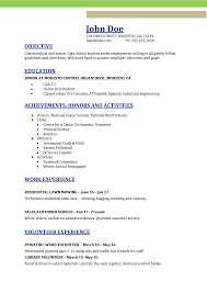 High School Resume Templates For Highschool Students On Template