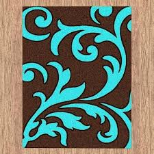 turquoise bath rugs brown and turquoise rug majestic carving contemporary temple bath rugs cont turquoise bath