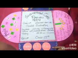 Invitation Cards For Farewell Party Handmade Invitation Card L Class 12th Farewell Party Youtube