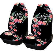 red flower car seat covers