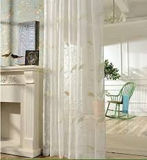 cheap window treatments. LQF Window Treatments Perspective Decoration Sheer Curtains White Little Birds Voile Curtain Drapes Rod Pocket Cheap