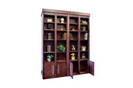 dual desk bookshelf small. Bi-fold Bookcase Wallbed Dual Desk Bookshelf Small 1