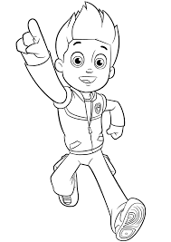 Aw Patrol Kleurplaat Ryder Disney Figuren Paw Patrol Coloring