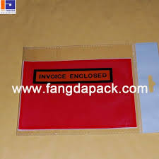 Self Adhesive Waybill Pouch Fangda China Plastic Packaging