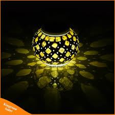 Hot Item Solar Powered Mosaic Glass Ball Garden Lights Colorful Changing Yard Balcony Lamps Waterproof Indoor Outdoor Light
