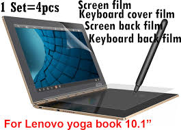 whole protective film for lenovo yoga book 10 1 inch tablet pc screen protector film keyboard cover