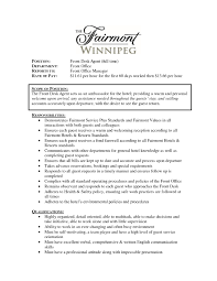 Fascinating Hotel Front Desk Agent Resume Sample With Supervisor