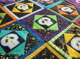 29 best Skull quilts ideas for Tina images on Pinterest | Skull ... & Sugar Skull Quilt Purple and Silvery Gray by BadBabyQuilts on Etsy, $30.00 Adamdwight.com