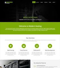 Modern Website Templates Interesting Modern Web Hosting HTML28 Website Template WebThemez