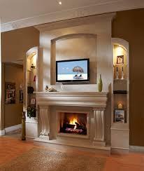 a beautiful classic stone fireplace mantel installation