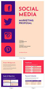 Social Media Proposal Template Vintage Social Media Consulting Proposal Template