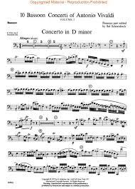bassoon sheet music preview 10 bassoon concerti vol 1 by antonio vivaldi hl 50332410
