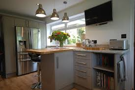 Kitchen Granite Worktop Quinag Stone And Mussel Kitchen With Solid Oak And Colonial White